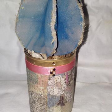 Vaso decorativo com suculenta