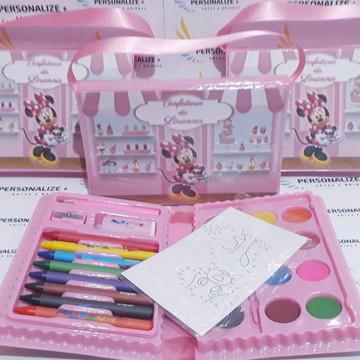 Kit Pintura/ Estojo de Colorir Minnie Confeiteira