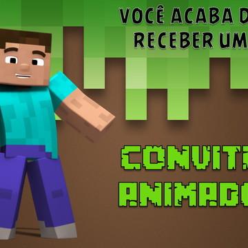 Convite Animado Minicraft