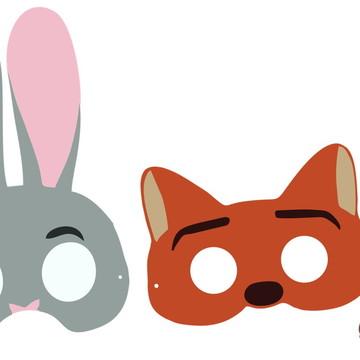 Máscaras Zootopia