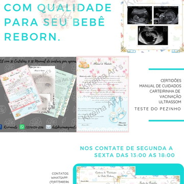 646c4dc50 Kit de Documentos para Bebês Reborn