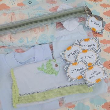 Saquinho Maternidade C/ Zíper Cinza **Promoção** + TAG