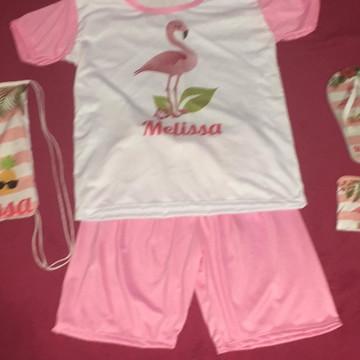 Festa do Pijama Flamingo cliente Flavia