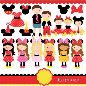 Cliparts Minnie CHERRY 116