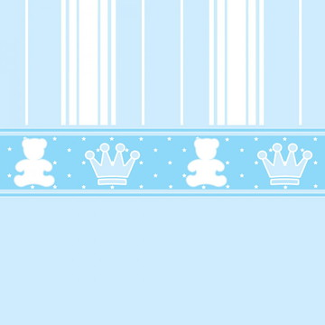 Papel de Parede Adesivo Azul Bebê Quarto Menino