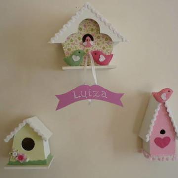 Casas de passarinho para decoração