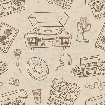Papel de Parede Desenho Musica Microfone Estudio 10m PPO012