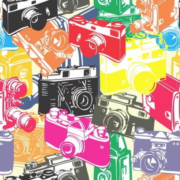 Papel de Parede Camera de Fotos Colorido Estudio 10m PPO019