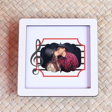 Placa/quadrinho com impressão com foto - clave de sol