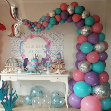 2 Balões Rabo/cauda Sereia De 60 Cm 2 Unidades -24 Polegada