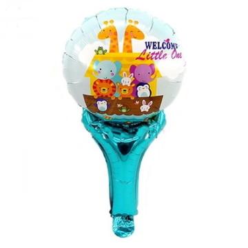 16 Balões Enfeite Animais,Arca de Noé + Bases