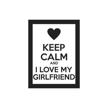"Quadro Decorativo ""Keep Calm And I Love My GirlFriend"" 40x30"