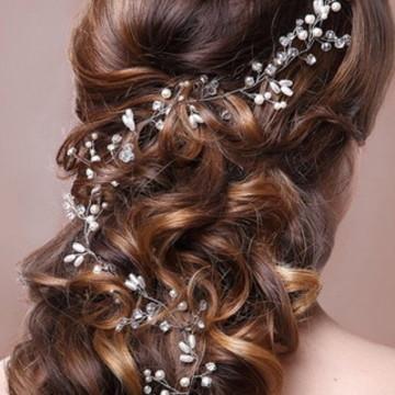 Fio de pérolas para penteado de noivas e outros