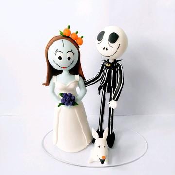 Topo de bolo - Jack e Sally