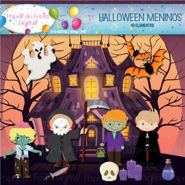 Kit Digital Halloween Meninos