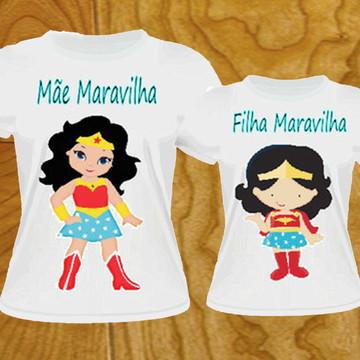 camiseta Tal Mãe Tal Filha mulher maravilha