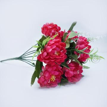 Buquê Permanente C/ 7 flores artificiais- Cor Rosa