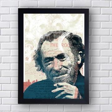 Quadro Decorativo Poeta Charles Bukowski