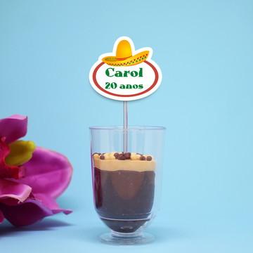 Colher para doces - chapéu mexicano
