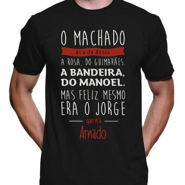 Camiseta Poetas Machado Bandeira Amado Masculina 1175