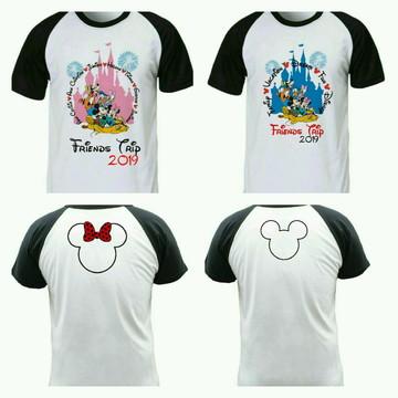 Camiseta de viagem Disney raglan