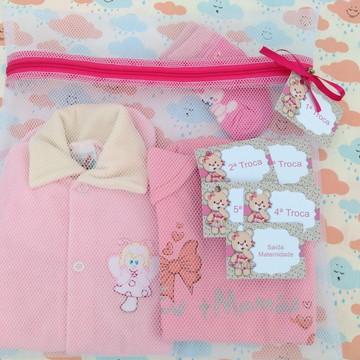 Saquinho Maternidade C/ Zíper Pink **Promoção** + TAG
