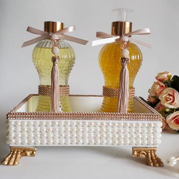 Kit bandeja de luxo pérolas