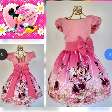 b48ffed4ce Vestido Minnie Rosa Adulto