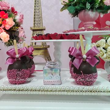 Maçã do Amor de Chocolate da Minnie / Mickey