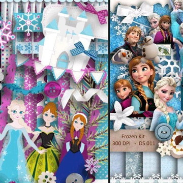 Kit Scrapbook Digital Frozen