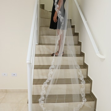 véu longo noiva mantilha casamento branco 2,5 metros