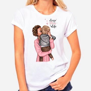 T-shirt Feminina Mãe de Menino