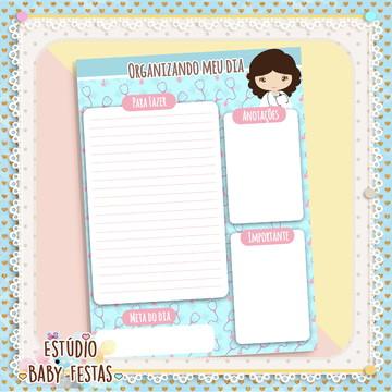 Desk Planner diário Médica/Enfermeira (30 folhas)