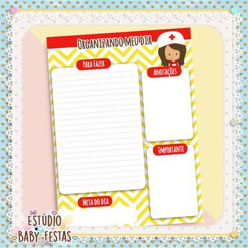 Desk Planner diário Enfermeira (30 folhas)