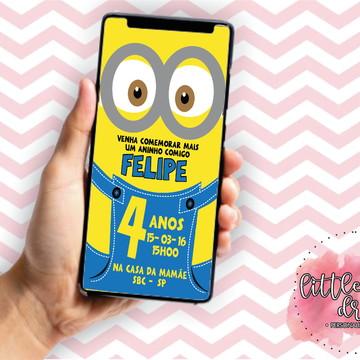Convite Virtual Minios - APENAS ARTE