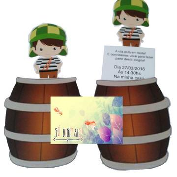 Convite barril chaves - ARQUIVO DE CORTE