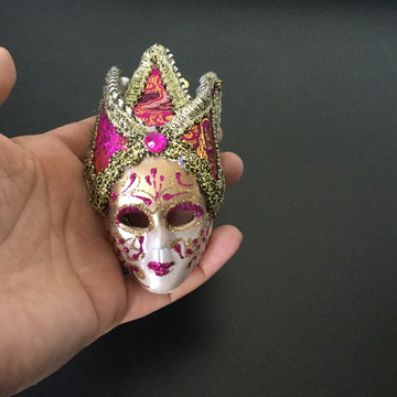 Mini Máscara Veneziana Decorativa