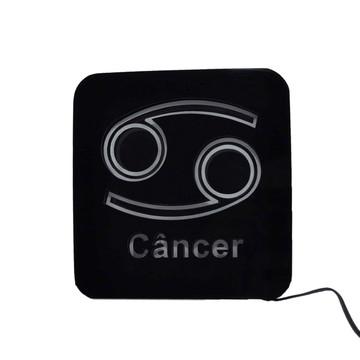 Abajur E Luminária Light Box Signo Câncer Com Led