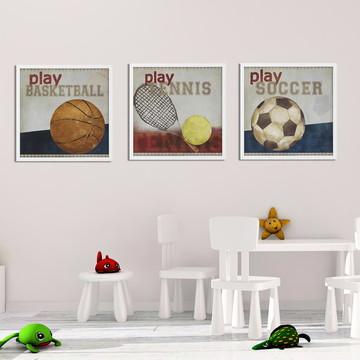 trio esportes gravura, quadro, futebol