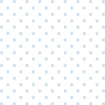Papel de Parede Quarto Bebê bolinhas Azul fundo Branco