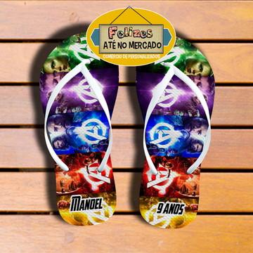 Chinelo Avengers Unissex! Sandália festa Infantil