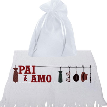 DIA DOS PAÍS, Presente PAI Kit Toalha + Saco de Organza
