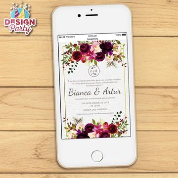 Convite Digital Floral