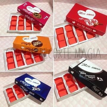 Arquivo de corte Molde caixa chocolate