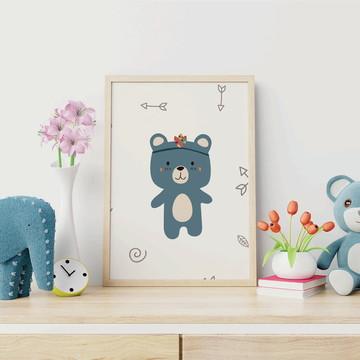 Poster digital Urso Escandinavo