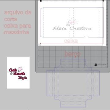 Arquivo de corte Molde Caixa Massinha