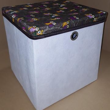 Caixa Organizadora c/ tampa 28x30x28 cm com alça ou ilhós