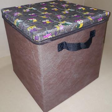 Caixa Organizadora c/ tampa 28x30x28 cm com alça preta