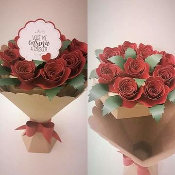 00083 ARQUIVO DE BUQUE 2 rosas diferentes FCM, STUDIO ou PDF