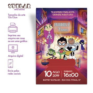 Convite Digital Jovens Titãs - Estelar